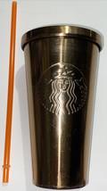 Starbucks Stainless Steel Metallic Gold Tumbler Grande BEAUTIFUL  - $28.21