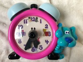 RARE! Tyco 1998 Tickety Tock Blues Clues TALKING Clock WORKS! Tells Time! - $51.47