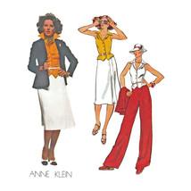 Designer JACKET - VEST - SKIRT - PANTS Anne Klein VTG Sz 10 VOGUE Sewing... - $7.87