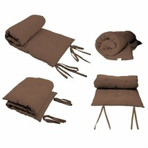 Rolling Mattresses Japanese Tatami Bed Roll Away Floor Mat That Bed - Brown - $71.37