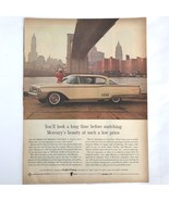 1960 Mercury Monterey 2 Door Hardtop Automobile Car Vintage Magazine Pri... - $14.25