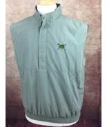 Boca Classics Club Golf 1/2 Zip Pullover Lined Vest Olive Green Men's Me... - $12.85