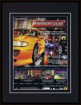 Midnight Club Street Racing 2000 PS1 Framed 11x14 ORIGINAL Advertisement B - $34.64