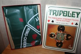 Vintage TRIPOLEY 1969 Deluxe Layout Only Edition 111 CADACO Rummy Poker ... - $13.96