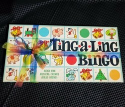 FATHERS DAY GIFT w/ Bow 1968 TING A LING Bingo VINTAGE Board Game Cadaco... - $27.92