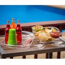 6-Piece Acrylic Serving Set Chip & Dip Salad Fruit Bowl Serving Tray Par... - €18,53 EUR