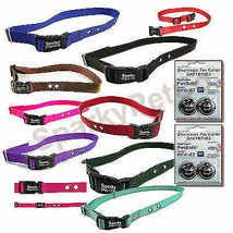 "1"" 2 HOLE 1.25"" APART Replacement Collar Strap + 4 High Tech RFA 67 Battery - $20.98"