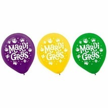 "Mardi Gras Helium Quality Latex Balloons 12"" Assorted Colors 15 Ct - $3.95"