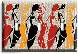 AFRICAN WOMEN TRIBAL DANCE 3 GANG LIGHT SWITCH WALL PLATE BEDROOM ROOM A... - $17.99