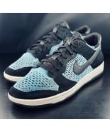 Nike Dunk Low Flyknit Black Skateboarding Shoes 917746-001 Size 10.5 EUC - $108.89