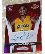 2014 JORDAN CLARKSON~ PaNiNi PriZim RED  RC LAKERS NBA Card Signed 100/1... - $60.78