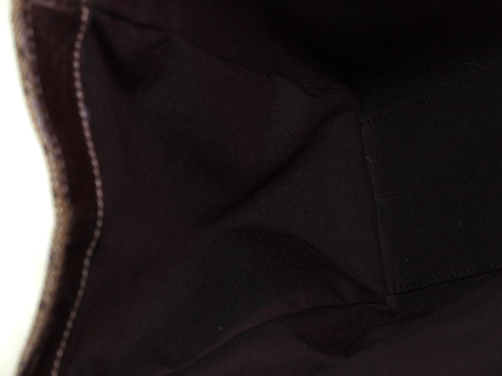 Authentic GUCCI GG Pattern Canvas Leather Browns Shoulder Bag GS14808L