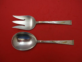 "Golden Wheat by Gorham Sterling Silver Salad Serving Set 9"" 2pc - $339.00"
