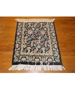 CHARMING PERSIAN KASHAN AREA RUG 2.8 X 3.0 LA56 - $65.00