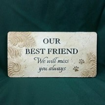 Ganz Pet Memorial Bereavement Sympathy Grave Marker Plaque Sign ER32064 New - $30.44