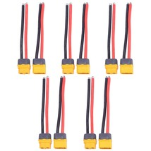 10 Pcs 5 Pairs Xt60 Xt-60 Plug Male And Female Connector With Sheath H - $33.99