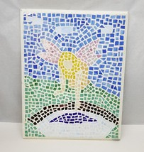 "Elephant Mosaic Wall Hanging Art 14.25""x11.25"" Hummingbird Abstract Deco... - $43.53"