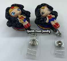 Wonder Woman Clay Retractable Badge Reel image 4