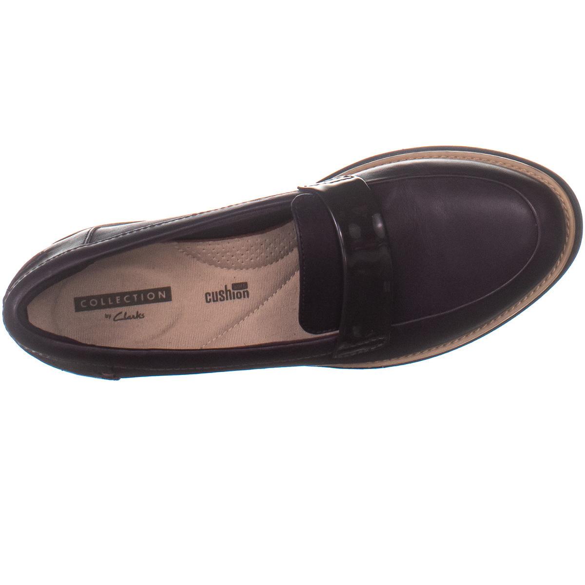 Clarks 7896 Slip On Loafer Flats, Oxblood 100, Oxblood, 6 US
