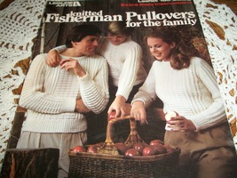 Knitted Fisherman Pullovers for the Family Leaflet 195 - $12.00