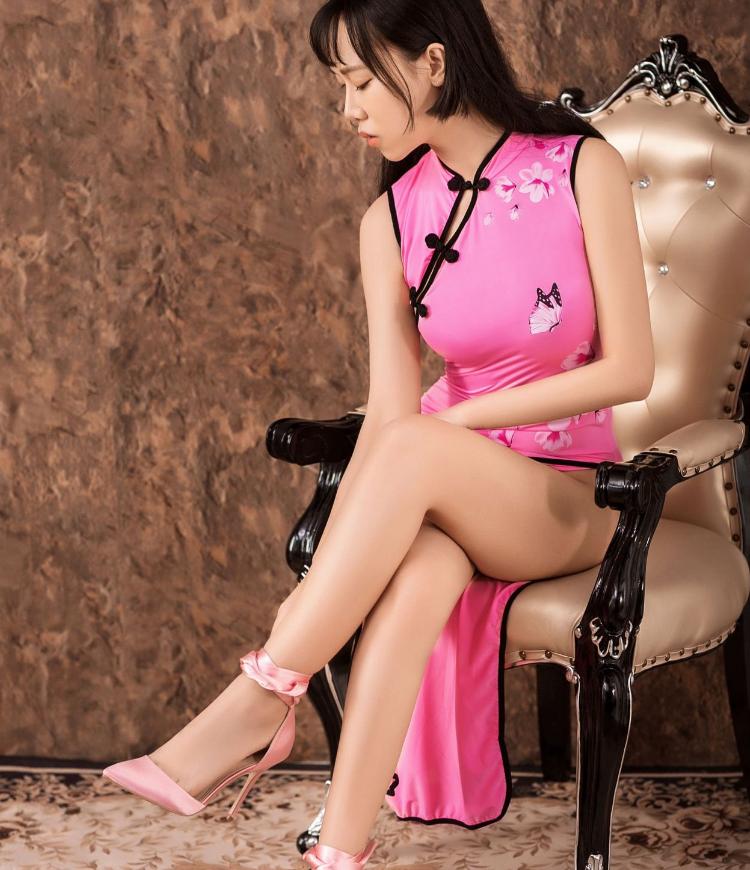 Women Sexy Long Cheongsam Dress High Split Vintage Qipao Pajamas Slim Stylish image 11