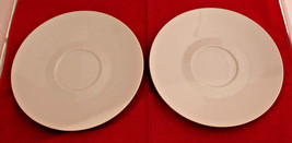 Rosenthal Germany Continental Classic Modern White Soup 2 Under Plates Only - $26.77