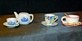 Miniature Pitcher, Tea Cups & Saucers AB 299 Vintage image 3