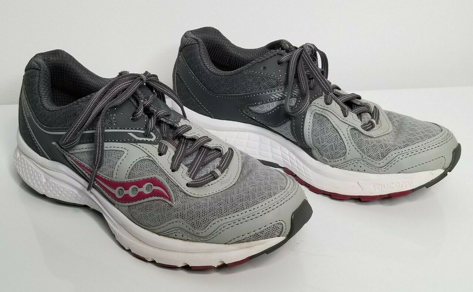 Primary image for SAUCONY Womens Grid Cohesion Gray Pink 7.5 Running Athletic Shoes S15352-12