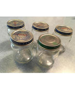 Baby Food Jars, Large Jar Lot of 5, Storage Jars, Beechnut and/or Gerber... - $5.25