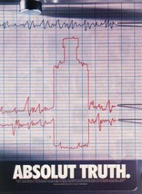 ABSOLUT TRUTH Vodka Magazine Ad LIE DETECTOR - $9.99