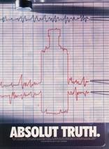 ABSOLUT TRUTH Vodka Magazine Ad LIE DETECTOR - $9.99