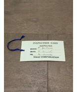 Original Vintage Teac Inspection Card - $12.00