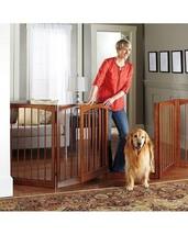 """36"""" Indoor 5 Panel Freestanding Wooden  Pet Gate Barrier Pen w/Door  Indoor - $261.20"""