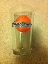 Bud LIGHT--PINT Beer GLASS--ONLY In MARCH--MADNESS--NCAA--FREE SHIP---VGC - $16.18