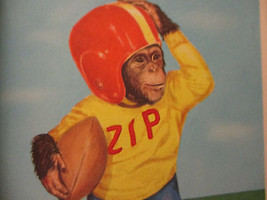 Monkey Funny Humor Children's Book Elf Zippy Goes to School Vintage 1954  - $16.10