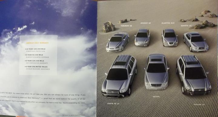 2005 Hyundai Cars Full Line Brochure