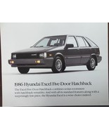 1986 Hyundai Excel Hatchback Brochure - $7.00