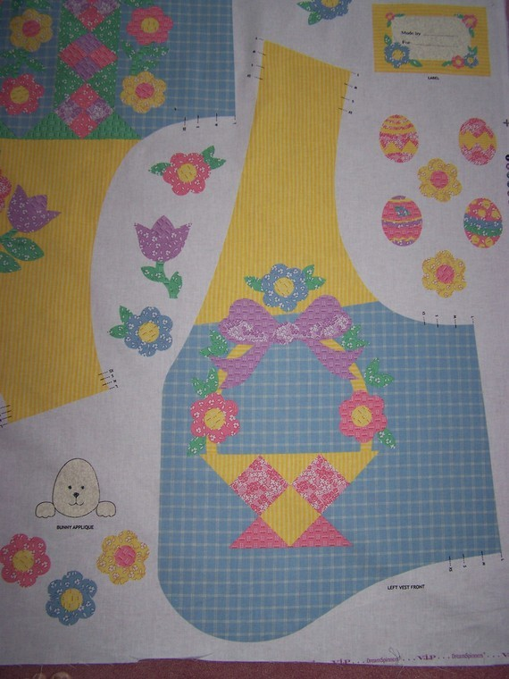 FLOWER BASKET VEST 2 PANELS CRANSTON V.I.P.