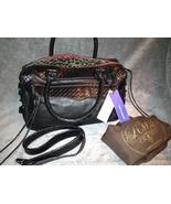 Rebecca Minkoff Designer Black Red Morning After Bag MAB Purse cheetah leopard - $425.00