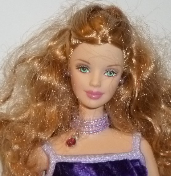 BARBIE Doll Mackie Face honey blonde hair wearing evening gown