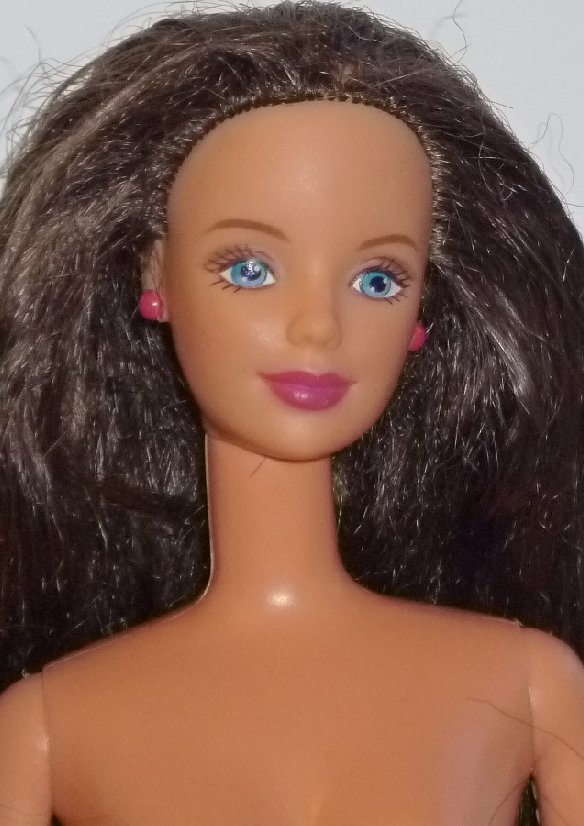 BARBIE Doll brown hair closed mouth nude twist waist for OOAK