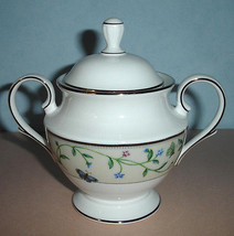 Lenox Idalia Sugar Bowl with Lid Platinum Banded Floral & Butterfly Motif New - $64.90