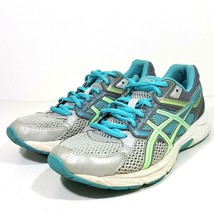 """ASICS Gel Contend 3 Sz 8 """"Gray Blue Green"""" Athletic RUNNING SHOES Traini... - $19.49"""