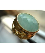 FILIGREE 18X24MM 58CARATS EXTRAVAGANT AQUAMARINE RING (nss) - $221.00