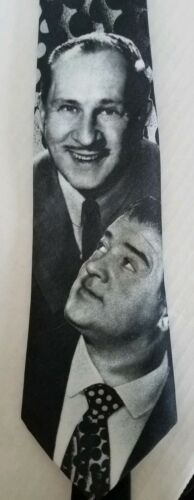 Abbott & Costello Ralph Marlins Dress Suit Neck Tie FREE SHIp Vintage Blk/grey