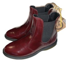 Dr Martens Air Wair Ankle Boot Cherry Red Vegan Flora Women's 10 Cambrid... - $93.06