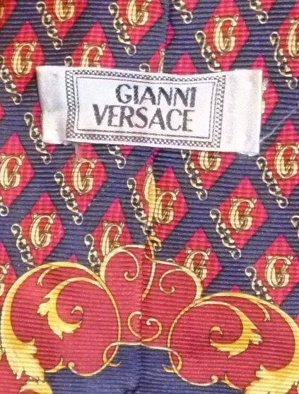 Gianni VERSACE classy print GV Medusa Silk TIE Necktie