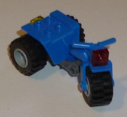 LEGO Part blue Motor Cycle ATV 3 wheels vehicle