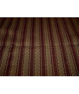 Burgundy Gold Stripe Fabric /Upholstery Fabric ... - $15.04
