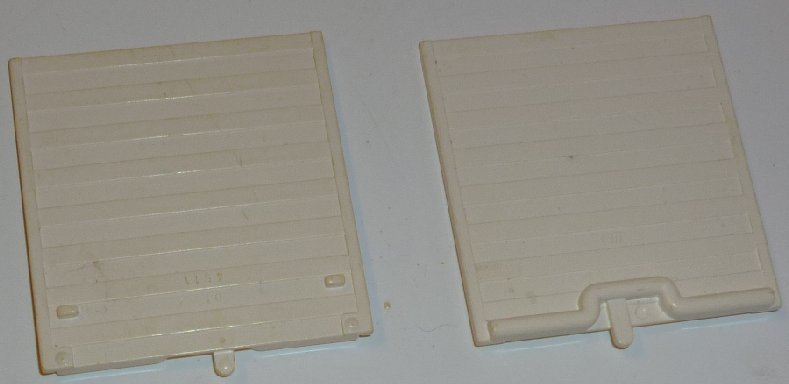 LEGO Parts lot of 2 white GARAGE DOORS